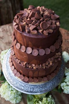 Reese's Peanut Butter Cup Groom's Cake...YUM!