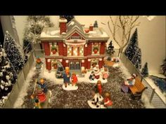 Video of Department 56 display combining Christmas in the City and Dickens Village pieces by WinterPep, via YouTube, 2013