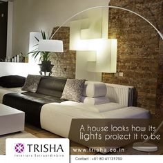Adorn your home with contemporary #lighting fixture from Trisha Interiors Extraordinaire. http://www.trisha.co.in/trisha-lighting-extraordinaire.html