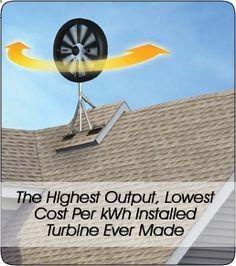 This wind powered generator starts making energy at 2 mph. activelifeessenti... #sustainablelivingideashttp://www.tamenergy.com/tam-wind-turbines.php