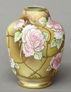 Nippon painted porcelain vase