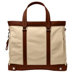Brown big size computer shopping bag with padded ipad® compartment - Piquadro Boheme collection | Online shop
