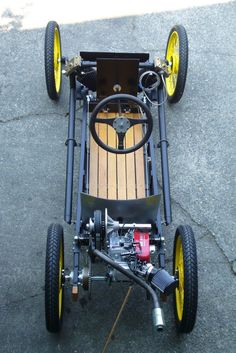 Modern cycle kart. Looks fun! May be neat to adapt to railroad cart.