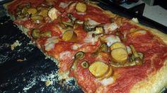 no pizza no party!!! Spelt flour pizza with mushrooms, sausage and mozzarella veg