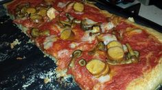 no pizza no party!!! Spelt flour pizza with mushrooms, sausage and mozzarella veg