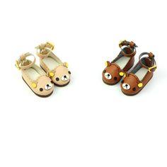 Blythe Bear Bear Strap Shoes Blythe shoes Doll by DollyHoly