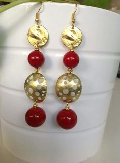 Orecchini con perle maiorca