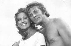 Reprodução - Eva Wilma e Carlos Zarana novela Mulheres de Areiaem 1973