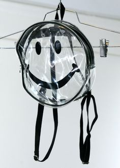 90s Clear Smiley Face Mini PVC Backpack
