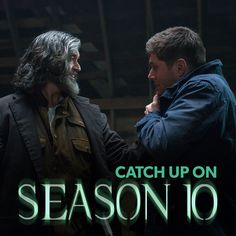 """Supernatural -- """"The Executioner's Song"""" -- Image -- Pictured (L-R): Timothy Omundson as Cain and Jared Padalecki as Sam -- Credit: Liane Hentscher/The CW -- © 2015 The CW Network, LLC. All Rights Reservedpn Supernatural Season 10, Supernatural Beings, Castiel, Supernatural Episodes, Song Reviews, Tv Reviews, Michael And Lucifer, Sam E Dean, Supernatural Cast"""