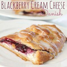 Blackberry and Cream Cheese Danish
