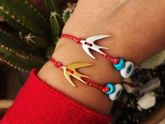Excited to share this item from my shop: Swallow bird bracelet Evil eye bracelet March bracelet Martis Martaki Martisor Martenitsa Red string bracelet Spring jewelry gift Men Women Bird Jewelry, Cross Jewelry, Keep Jewelry, Jewelry Gifts, Jewelry Ideas, Jewellery, Red String Bracelet, Swallow Bird, Evil Eye Bracelet