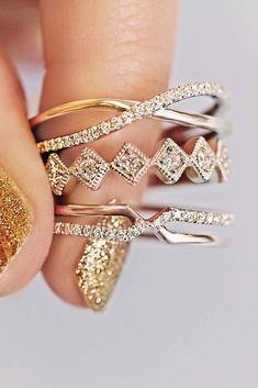 Ritani Rings For Every Beautiful Bride ❤️ ritani wedding bands twist pave band gold ❤️ See more: http://www.weddingforward.com/ritani/ #wedding #bride #engagementrings #ritani