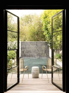 C Magazine - decks/patios - deck, pool deck, steel french doors, steel doors…