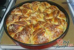 Nutelová hvězda z kynutého těsta | NejRecept.cz French Toast, Bread, Breakfast, Food, Sugar, Morning Coffee, Brot, Essen, Baking