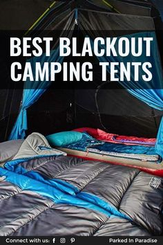 Blackout tents block of sunlight. Sleep during the day or in bright sunlight. Great for light sleepers, families, kids, atronomers and festival goers. Kids Camping Gear, Solo Camping, Camping Activities, Camping With Kids, Tent Camping, Adventure Gear, Adventure Travel, Bed Cleaner, Tent Design