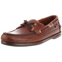 This is one of the very BEST traditional 2-Eyed Moccasin style men's boat shoe I have owned.  I just bought a new pair over the holidays and I absolutely love them!  The quality is outstanding.  The soles really grip my wet tile floors and I can't wait to try them out on my sailboat when the weather gets warmer.  The actual color is more dark brown than shown in the photo but is available in 6 different colors and combinations.
