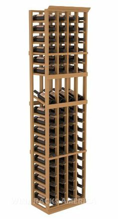 "Five Star Series: 4 Column 68 Bottle Display Wine Cellar Rack in Pine with Oak Stain +Satin Finish by Wine Racks America®. $428.57. Made from eco-friendly wood sources in sustainable forests. 3 ¾"" wide cubicles for bottle access.. Choose From either Pine, Redwood, or Mahogany along with optional Industry Leading Quality Eco-Friendly Stains Paired with an Immaculate Satin Finish. Each have custom finishes and are professionally stained to order, so please allow..."