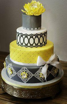 Wedding cake topper, lovebirds, wedding decoration, grey and white ...
