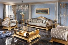 Luxury Home Furniture, Classic Furniture, Dining Set, Dining Room, Luxury Sofa, Victorian Fashion, Sofas, Accent Chairs, Couch