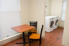 Laundry lounge.