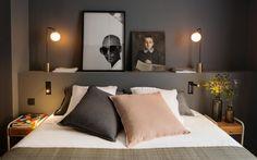 Certaines chambres déclinent le même esprit dans des tonalités de couleur plus claires