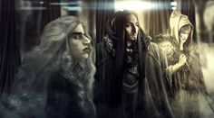 Olorin,(Gandalf/Mithrandir) Curumo (Saruman) and Aiwendil (Radagast) in their Maiar forms in Valinor, by Aiwendil on tumblr