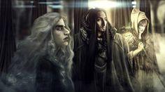 Olorin,(Gandalf/Mithrandir) Curumo (Saruman) and Aiwendil (Radagast) in their Maiar forms in Valinor, by Aiwendil on tumblr