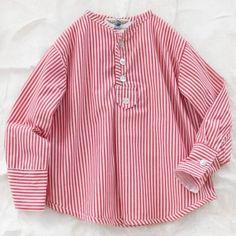 deluna red stripe shirt