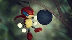 Ledian and oran berry by sir-rodrigues on DeviantArt blender cycles 500 samples