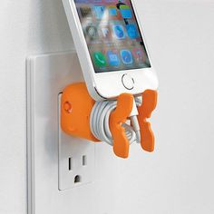 Give your dull white iPhone, iPod, of iPad Mini charger some added personality and utility.  They secure your USB docking cable to Apple power adaptors so cables & chargers stay together.