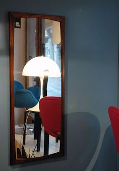 Miroir en palissandre, design et édition Aksel Kjersgaard, Danemark, c. 1955-60 Vevey, Vintage Design, Boutique, Furniture, Home Decor, Denmark, Mirror, Decoration Home, Room Decor
