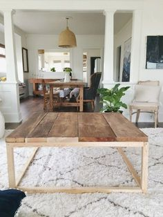 DIY coffee table. home renovation blog thimbleandcloth