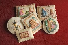 Bees and Bee Skep Cookies by EmbossedEdibles