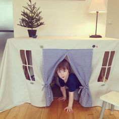 Little sailor the tablecloth house. by StripedCoast on Etsy, $78.00