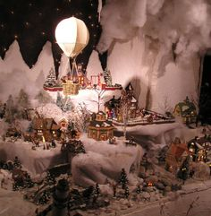 Christmas Village Ideas | The club presented the village with a New England Series house from ...