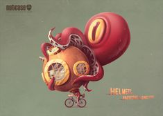 These Adorable Print Ads for Nutcase Helmets Show Protective Headgear Through Time | Adweek