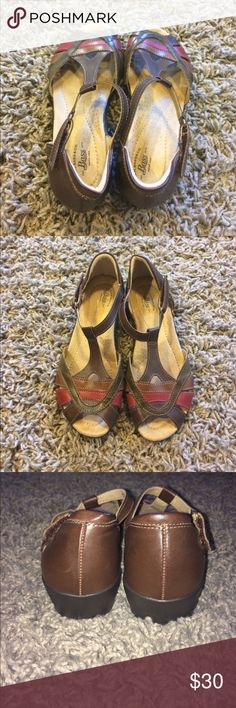 G.H bass leather sandals size 6 Known for quality shoes. GH bass Kalen sandals size 6 leather woven sandals. Like new! Euc smoke free home dog mom. Bass Shoes Sandals