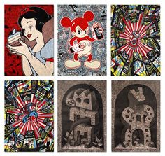 Set of 6 prints By Speedy Graphito