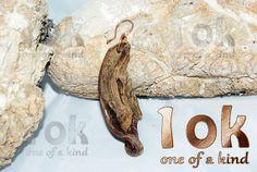 Driftwood earring handmade with copper findings by 1OKjewels, €21.00
