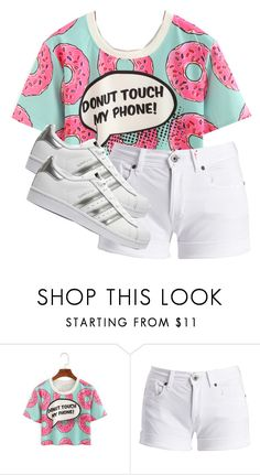 """""""My brother needs to learn to do this"""" by writergirl2022 ❤ liked on Polyvore featuring Barbour International and adidas Originals"""