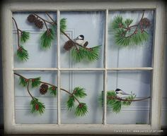 Panes of Art, Hand Painted Window Pane Art, Window Art, Decorative Window Panes, Old Barn Wood Art For Sale, Michele Mueller, window pains, folk art on old windows, decorative ideas with old windows, recyling old windows, upcycling old windows, reclaimed old windows, Pike Country Studios,