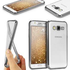 [WOW] Original Urcover® Samsung Galaxy S7 EDGE Hülle aus TPU Silikon mit Spiegelrand Schutz Hülle für das Samsung Galaxy S7 EDGE Case Cover Schale [deutscher FACHHANDEL] Schwarz Silber  9,90€