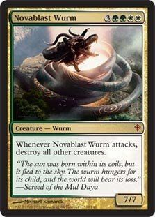 Magic The Gathering Worldwake: Novablast Wurm Card Kingdom