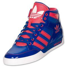 Adidas Womens Originals Hardcourt Hi Casual Shoes True BlueBlaze ...
