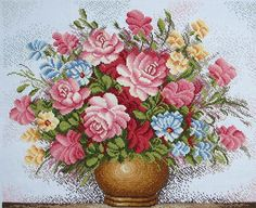 """Completed Cross Stitch 100% Hand-made Design count: 214sts wide X 180sts high  Fabric Size: 60cm X 50cm / Inch: 24"""" X 20""""  Fabric: 11-count white aida"""