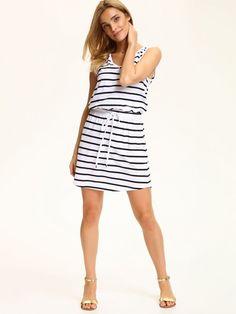 5884414956 Top Secret letnia sukienka w paski stripped summer dress