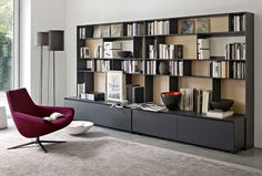 System-Bookcase: FLAT.C - Collection: B&B Italia - Design: Antonio Citterio