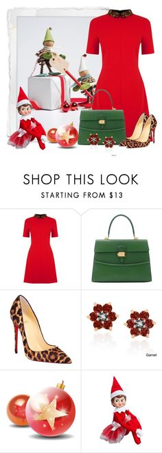 """Untitled #5132"" by cassandra-cafone-wright ❤ liked on Polyvore featuring Oasis, Dressage Collection, Christian Louboutin, Dolce Giavonna and Elf on the Shelf"