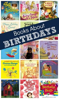 Books About Birthdays....celebrate with these fun birthday books for kids!